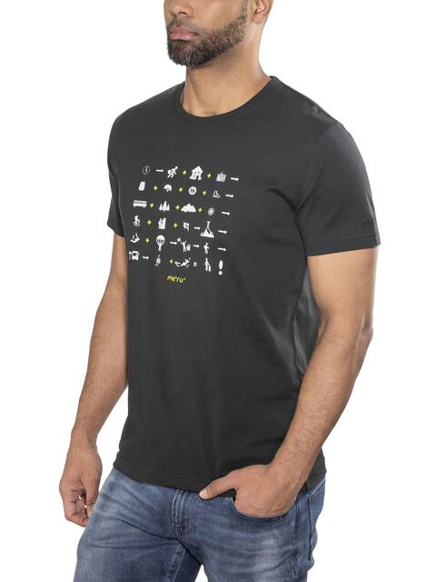 Meru Sete - T-shirt manches courtes Homme - noir